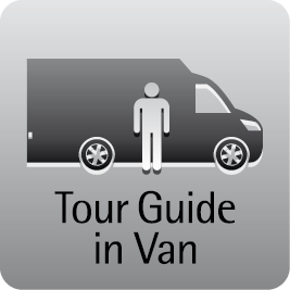 Tour Guide im Van