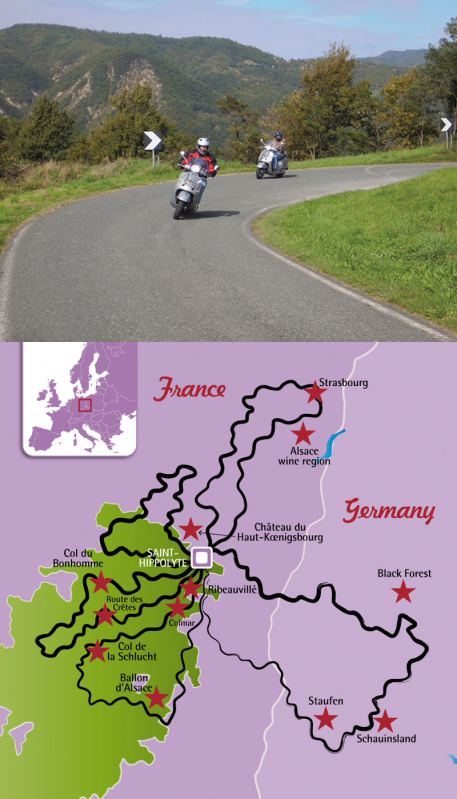 Vosges and Black Forest by Scooter