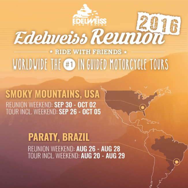Reunion Edelweiss Motorcycle Tours