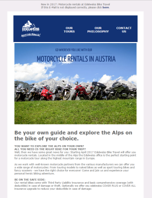 Edelweiss Motorcycle Touring Newsletter